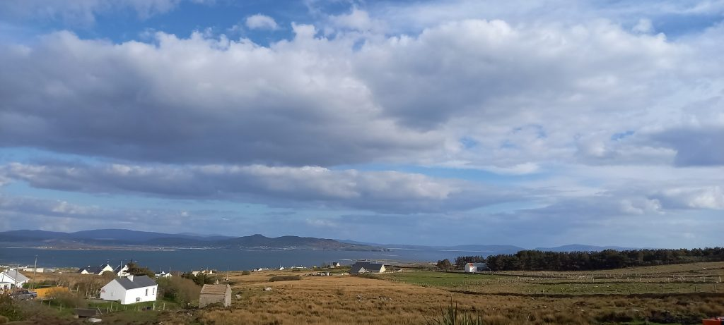 The view from the Arranmore Glamping Spot